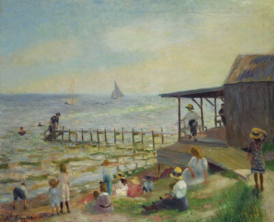 William James Glackens, 'Beach Side', 1912-1913