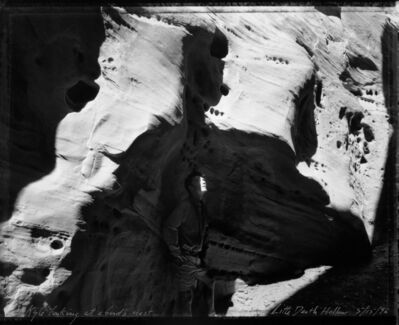 Mark Klett, 'Kyle looking at a bird's nest, Little Death Hollow, 5/15/96', 1996