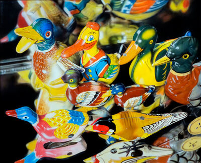 Cesar Santander, 'Eight Tin Birds', 1984