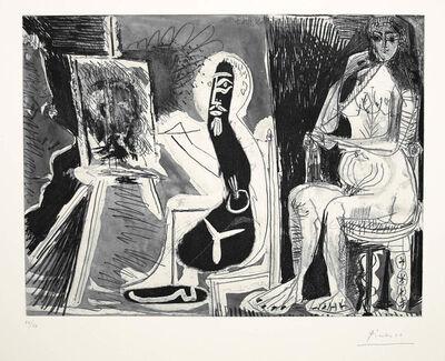 Pablo Picasso, 'Dans l'Atelier [Peintre avec le portrait d'un jeune garcon, dans son atelier]', 1963