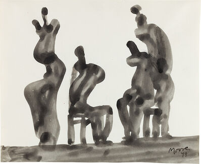 Henry Moore, 'Four Figures Seated and Standing', 1979-80
