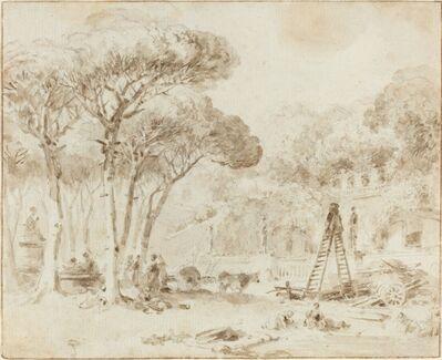 Jean-Honoré Fragonard, 'Gardens of an Italian Villa (Villa Medici?)'