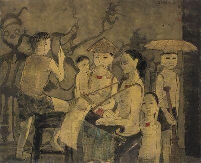 Cheong Soo Pieng, 'Sarawak Life', 1964
