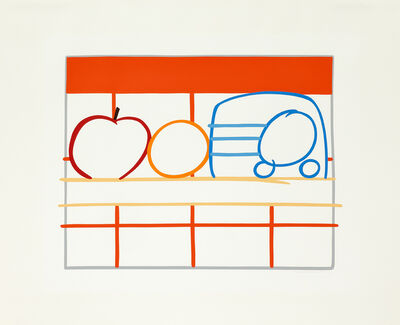 Tom Wesselmann, 'Still Life with Apple, Orange and Radio', 1991