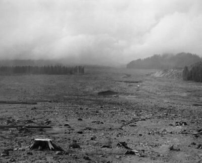 Frank Gohlke, 'Looking NW across lahar (mudflow) toward Mt. St. Helens- 6 miles SE of Mt. St. Helens, Wash.', 1983