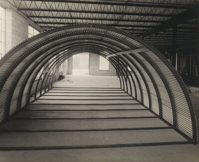 Arthur Siegel, 'A group of 6 industrial photographs from the company Stran Steel, depicting a steel frame & men working'