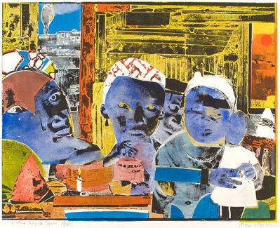 Romare Bearden, '12 Trains - Daybreak Express', 1974
