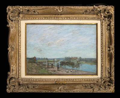 Alfred Sisley, 'Les Oies A Saint-Mammes', 1850-1890