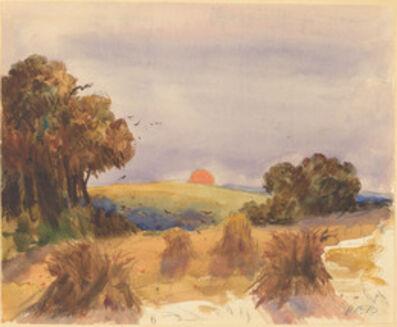 Hercules Brabazon Brabazon, 'A Cornfield at Sunset'