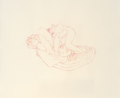 Josephine Taylor, 'Rug Drawing #1 (side fall/head lock/pink)', 2011