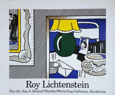 Roy Lichtenstein, 'Two Paintings: Green Lamp Poster', 1986
