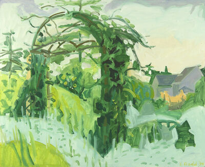 Lois Dodd, 'Arbor and White Plants', 1994