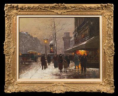 Edouard Léon Cortès, 'La Porte St. Denis en hiver'