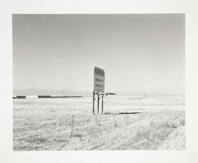 Robert Adams, 'Sign for new apartments to be built next to Interstate 25, Adams County, Colorado', 1973, 74, printed 2007
