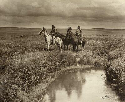 Edward Sheriff Curtis, 'Three chiefs', 1900