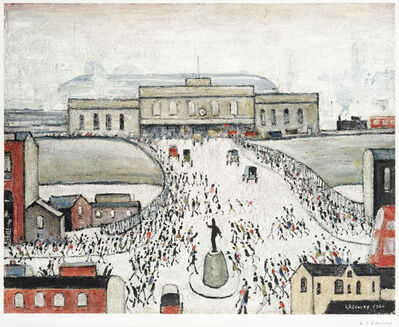 Laurence Stephen Lowry, 'Station Approach', 1962