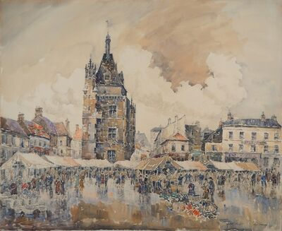 Frank Will, 'Dreux, the market place c. 1930', 1930