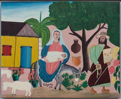 Toussaint Auguste, 'Untitled (Flight to Egypt - Holy Family ', 1950