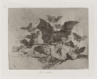 Francisco de Goya, 'Las resultas [The consequences], plate 72', 1813-1815