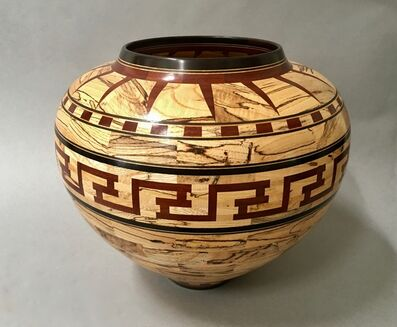 Ray Allen, 'Segmented Vessel with Hopi Motif', ca. 2000