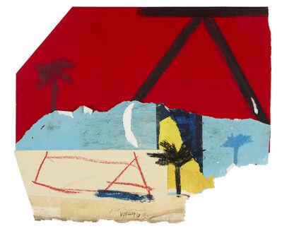 Karl Bohrmann, 'Landschaft mit Palmen und A (Landscape with palm trees and A)', 1990