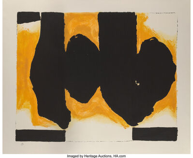 Robert Motherwell, 'Burning Elegy', 1991