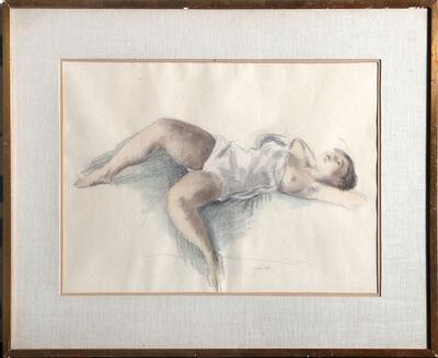 Raphael Soyer, 'Reclining Nude II', ca. 1930