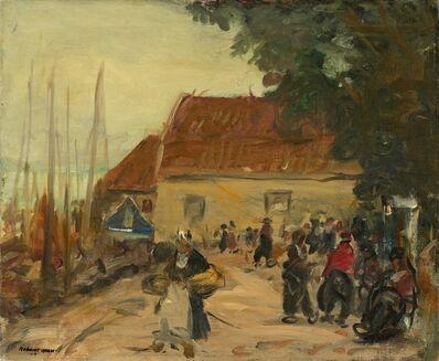 Robert Henri, 'Volendam Street Scene', 1910