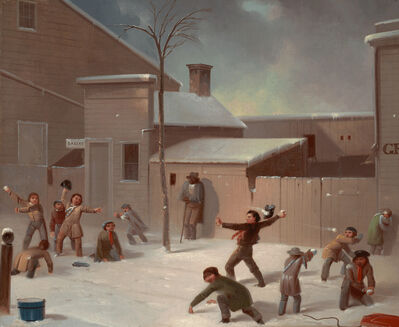 John Morton, 'Snowball Fight', ca. 1835