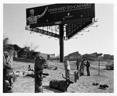 David Goldblatt, 'Carvings for Sale on William Nicol Drive'