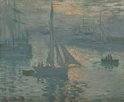 Claude Monet, 'Sunrise (Marine)', 1873
