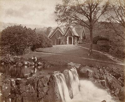 John Payne Jennings, 'Cottage in Landscape with Man Sitting on Rock', 1860s