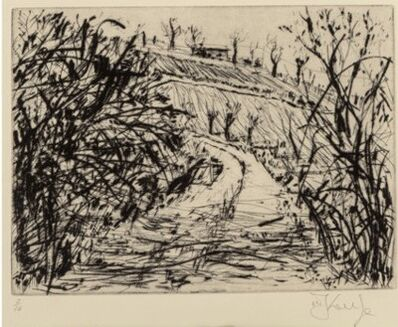 William Kentridge, 'Landscape (Overgrown Road)', 1999
