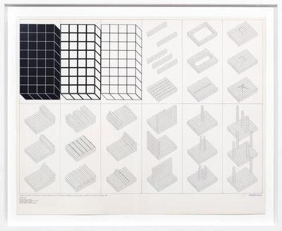 Superstudio, 'Istogrammi d'architettura con riferimento a un reticolo in aree o scale diverse par l'edificazione di una natura serena e immobile in cui riconoscersi', 1969