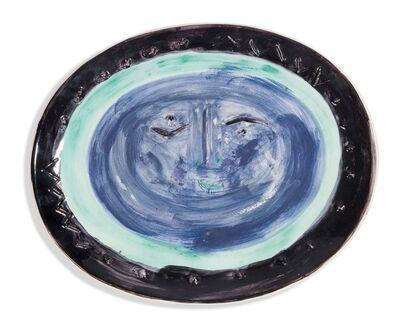 Pablo Picasso, 'Visage dans un ovale', 1955