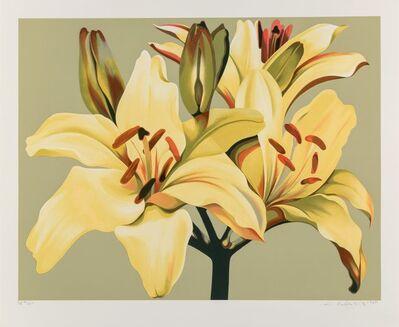 Lowell Nesbitt, 'Lilies on Green', 1980