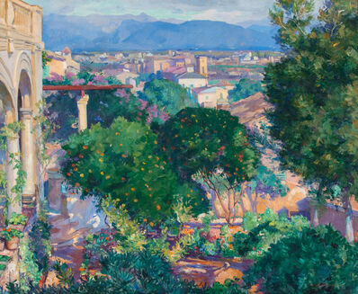 Abel George Warshawsky, 'Orange Trees at Antibes', ca. 1920