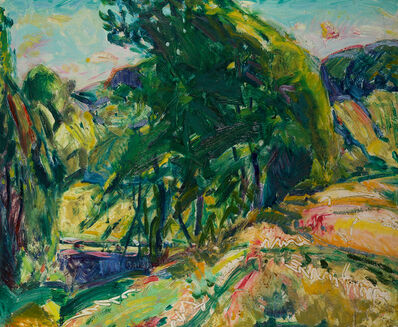 Alfred H. Maurer, 'Landscape with Green Tree'