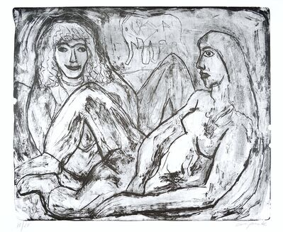 A.R. Penck, 'Two Woman (Zwei Frauen)', 1990-2000