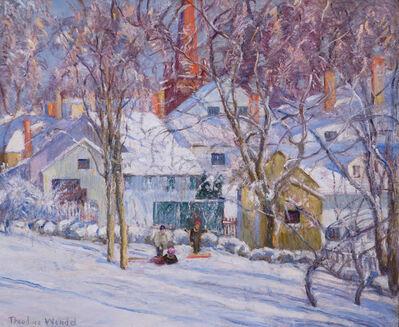 Theodore Wendel, 'Sledding in Ipswich, Massachusetts', ca. 1910