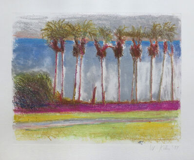 Wolf Kahn, 'Coconut Palms in a Row', 1997