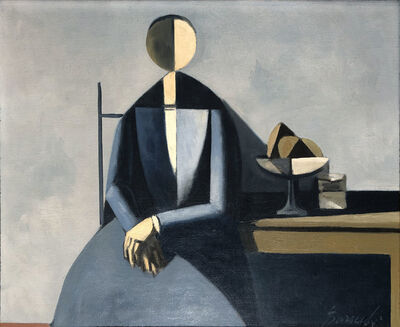 Duilio Barnabé, 'Woman at a Table', ca. 1950s