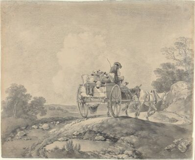 Thomas Gainsborough, 'Drover with Calves in a Country Cart', ca. 1755