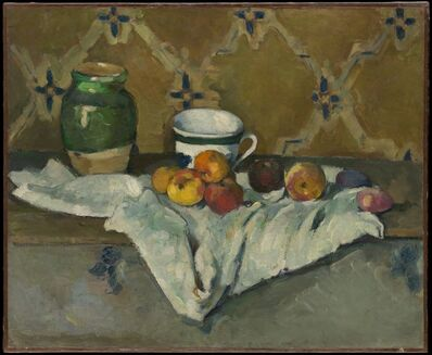 Paul Cézanne, 'Still Life with Jar, Cup, and Apples', ca. 1877