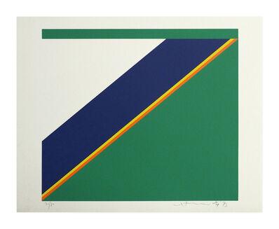 Hsiao Chin 蕭勤, 'Farbkomposition grün', 1973