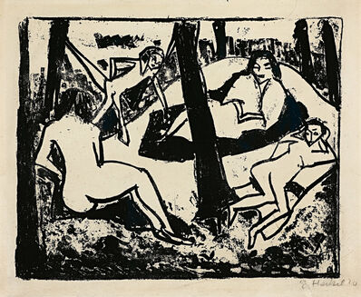 Erich Heckel, 'Szene im Wald', 1910