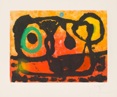 Joan Miró, 'Head of the Setting Sun', 1967