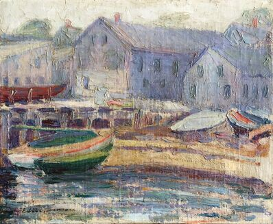 Edith Lake Wilkinson, 'Beached Boats, Provincetown', ca. 1916