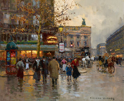 Edouard Léon Cortès, 'Café de la Paix', 20th Century