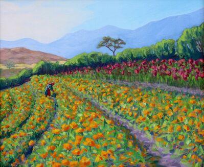 Elizabeth Downer Riker, 'Tending Flowers for Day of the Dead', 2009